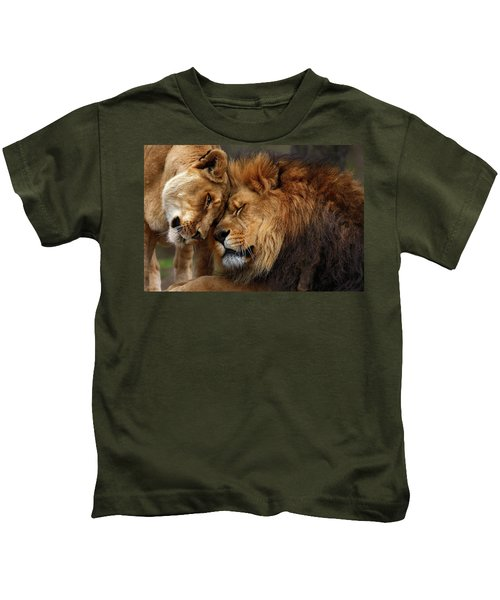 Lions In Love Kids T-Shirt