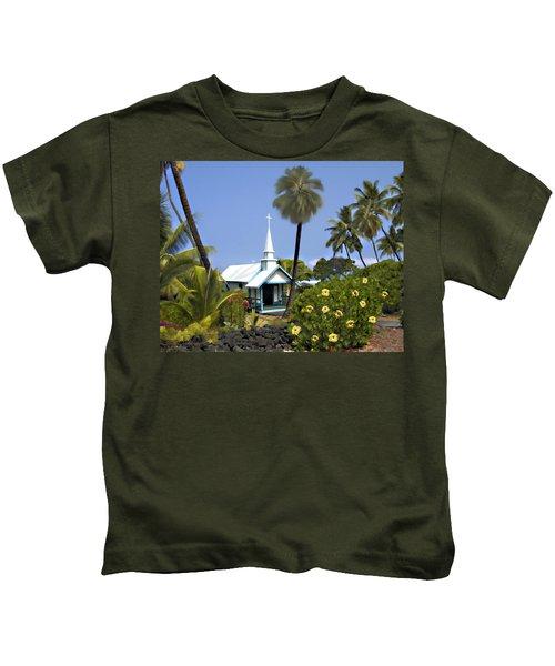 Little Blue Church Kona Kids T-Shirt