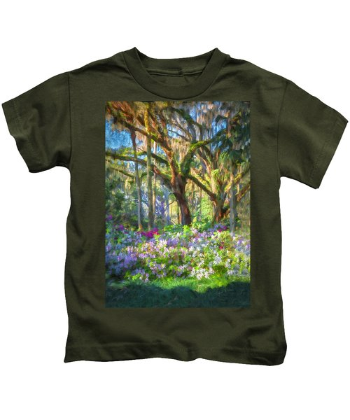 Live Oaks And Azaleas Painted  Kids T-Shirt