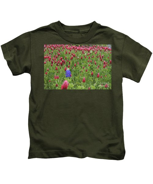 Lonely Bluebonnet Kids T-Shirt