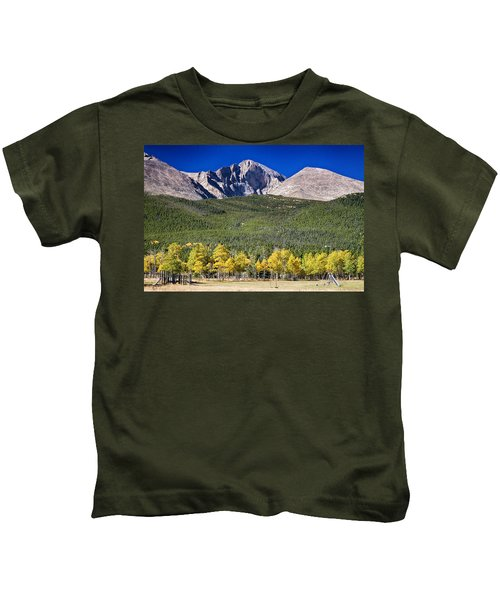 Longs Peak A Colorado Playground Kids T-Shirt