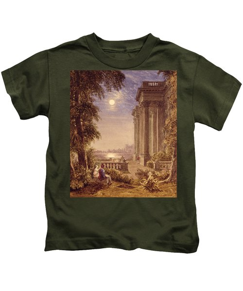 Lovers By Moonlight, 1831 Kids T-Shirt