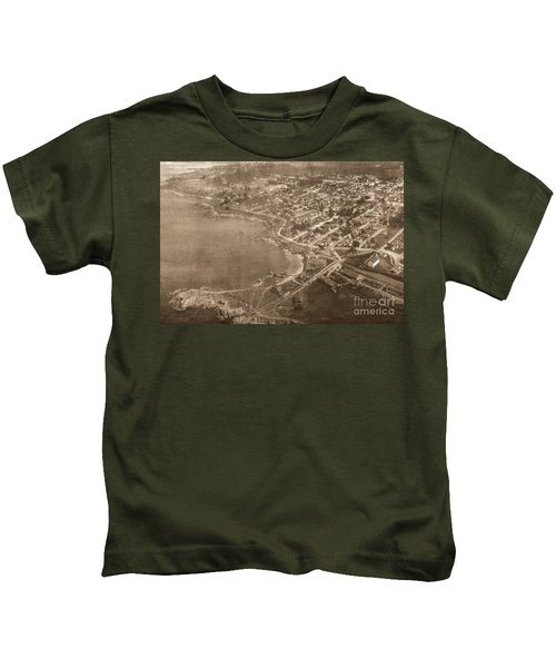 Aerial Of Lovers Point And Pacific Grove California July 10 1906 Kids T-Shirt