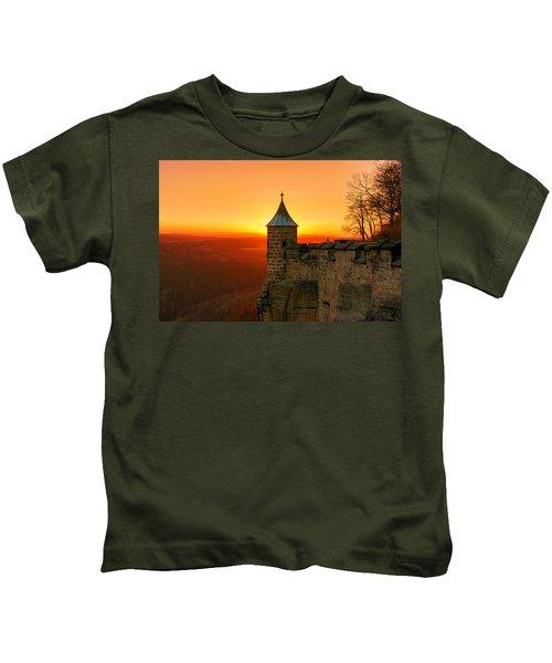 Low Sun On The Fortress Koenigstein Kids T-Shirt