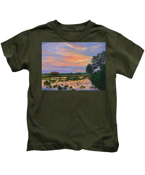 Loxahatchee Sunset Kids T-Shirt