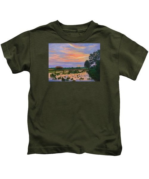 Loxahatchee Sunset Kids T-Shirt