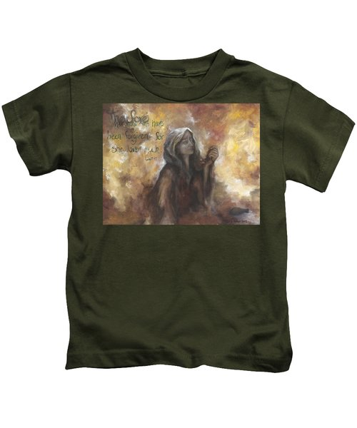 Luke 7 Verse 47 Forgiveness Kids T-Shirt