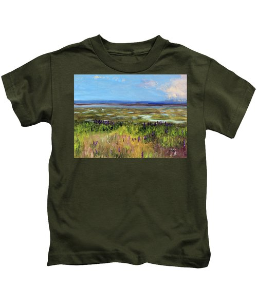 Lupine Of Fort Hill Kids T-Shirt