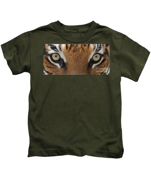 Malayan Tiger Eyes Kids T-Shirt