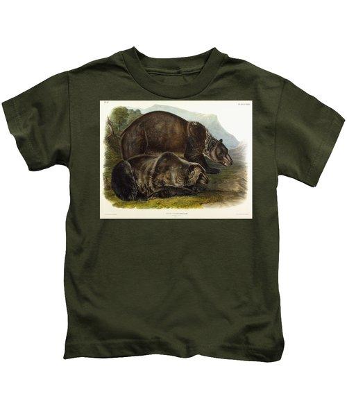Male Grizzly Bear Kids T-Shirt