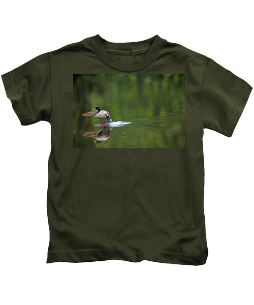 Mallard Splash Down Kids T-Shirt
