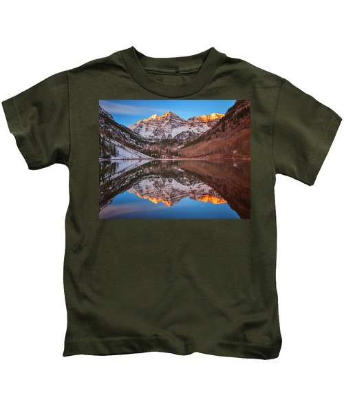 Maroon Bells Alpenglow Kids T-Shirt