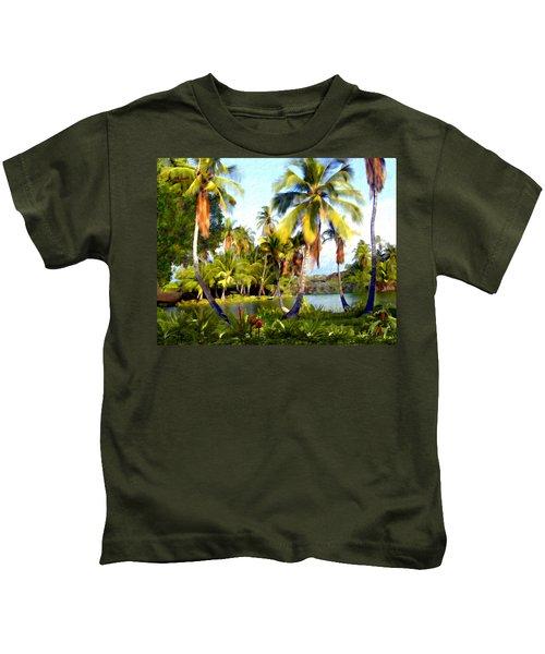 Mauna Lani Fish Ponds Kids T-Shirt