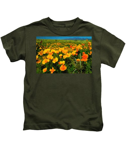 Mexican Poppies Kids T-Shirt