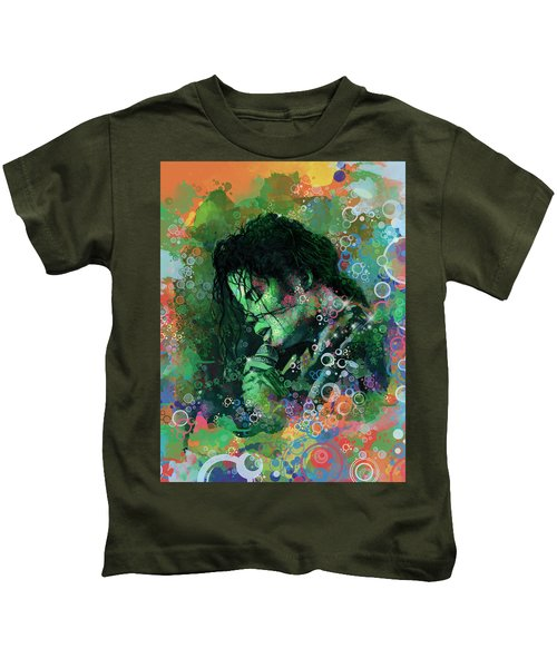Michael Jackson 15 Kids T-Shirt by Bekim Art