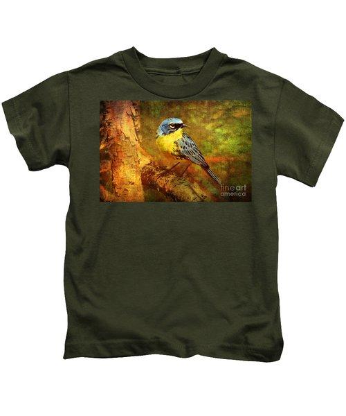 Michigans Rare Kirtlands Warbler Kids T-Shirt