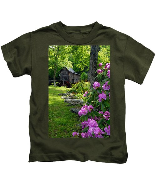 Mill And Rhododendrons Kids T-Shirt