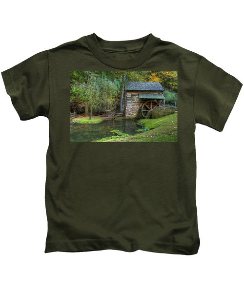 Mill Pond In Woods Kids T-Shirt