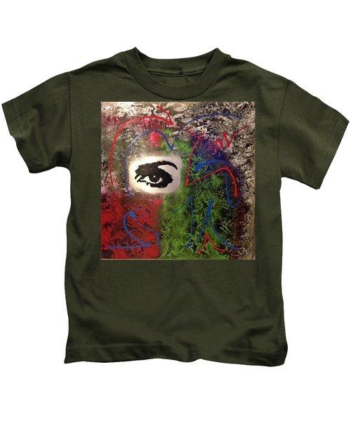 Mixed Media Abstract Post Modern Art By Alfredo Garcia Eye See You 2 Kids T-Shirt