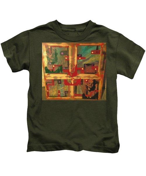 Mixed Media Abstract Post Modern Art By Alfredo Garcia The Blond Bombshell 3 Kids T-Shirt