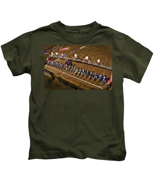 Monster Energy Ama Supercross  450sx Main Kids T-Shirt