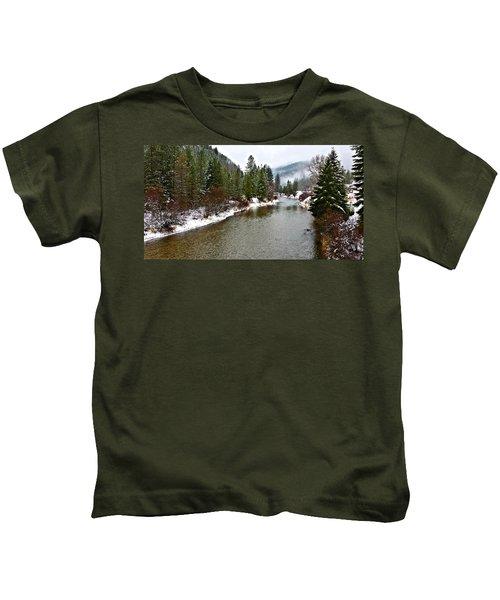 Montana Winter Kids T-Shirt