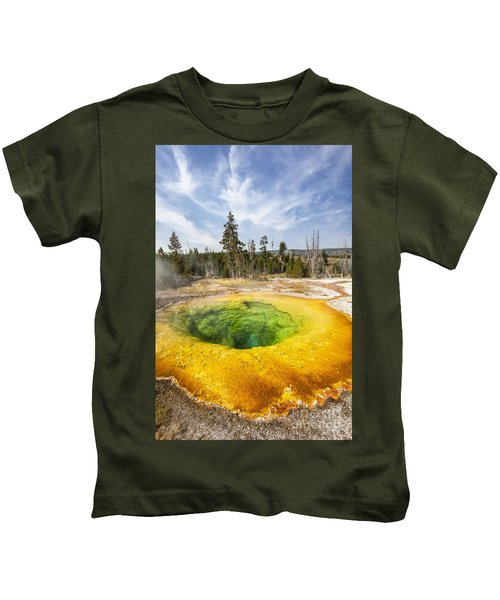 Morning Glory Pool In Yellowstone National Park Kids T-Shirt