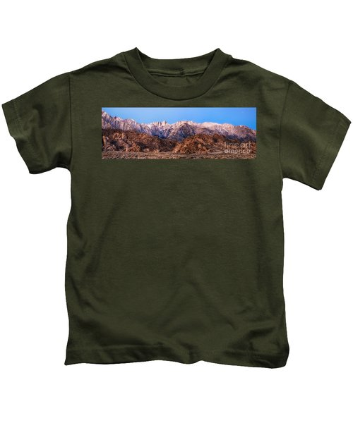 Morning Light Mount Whitney Kids T-Shirt