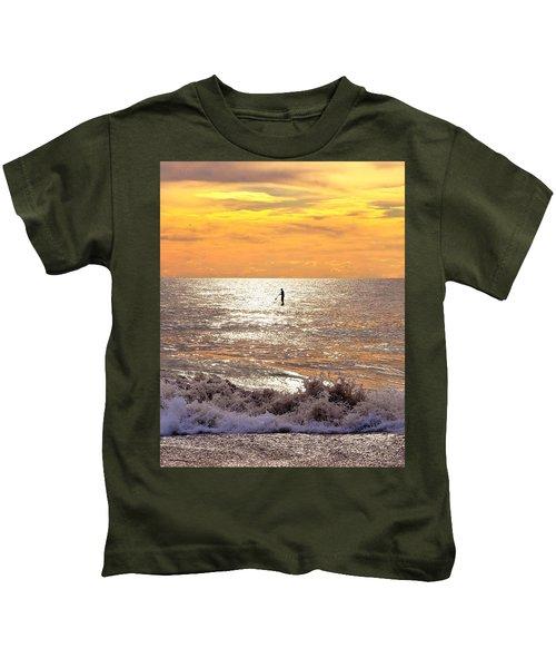 Sunrise Solitude Kids T-Shirt