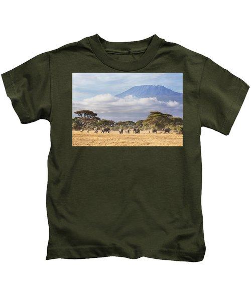 Mount Kilimanjaro Amboseli  Kids T-Shirt