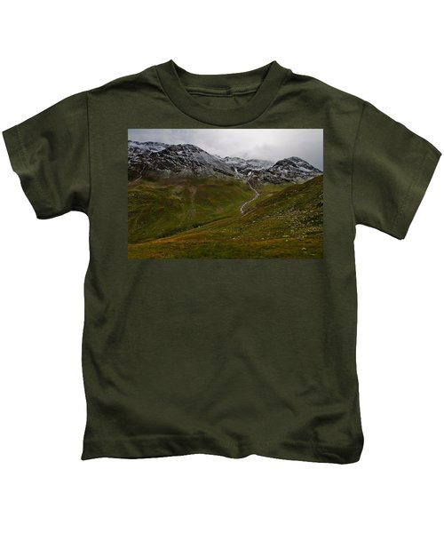 Mountainscape With Snow Kids T-Shirt