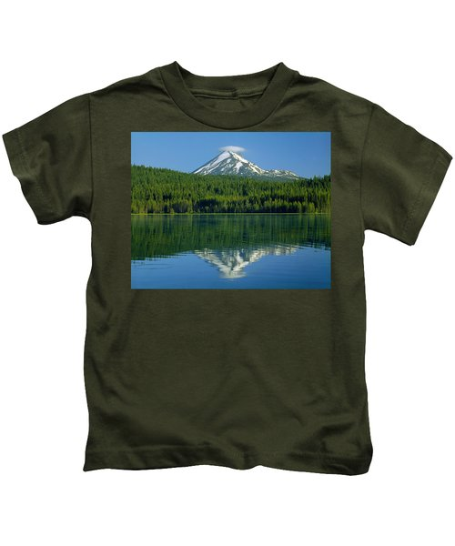 1m5705-h-mt. Mcloughlin From Lake Of The Woods Kids T-Shirt