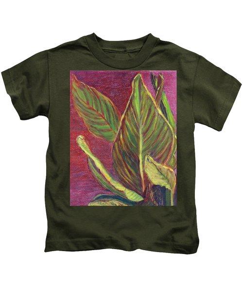 Multicolor Leaves Kids T-Shirt