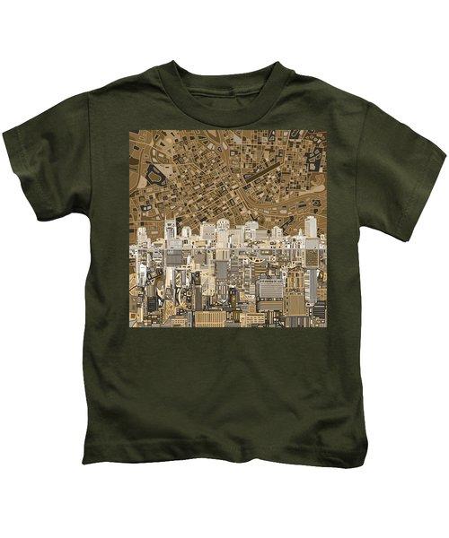 Nashville Skyline Abstract 2 Kids T-Shirt by Bekim Art