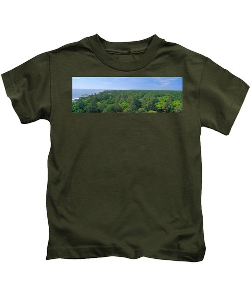 Native Trees At Hunter Island Kids T-Shirt