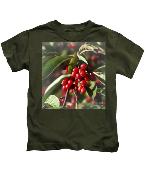 Natures Gift Of Red Berries Kids T-Shirt