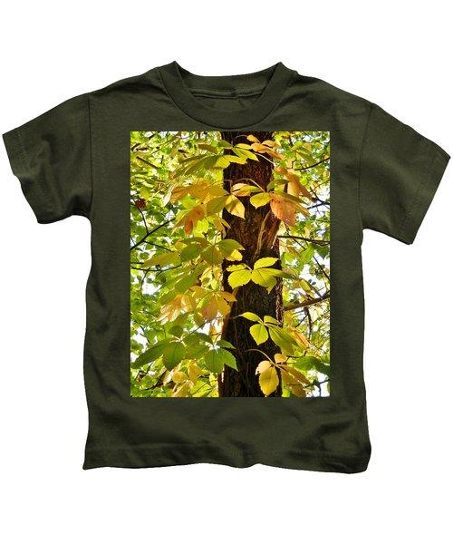 Neon Leaves Kids T-Shirt