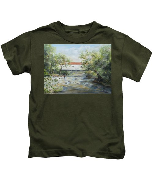 New Jersey's Last Covered Bridge Kids T-Shirt
