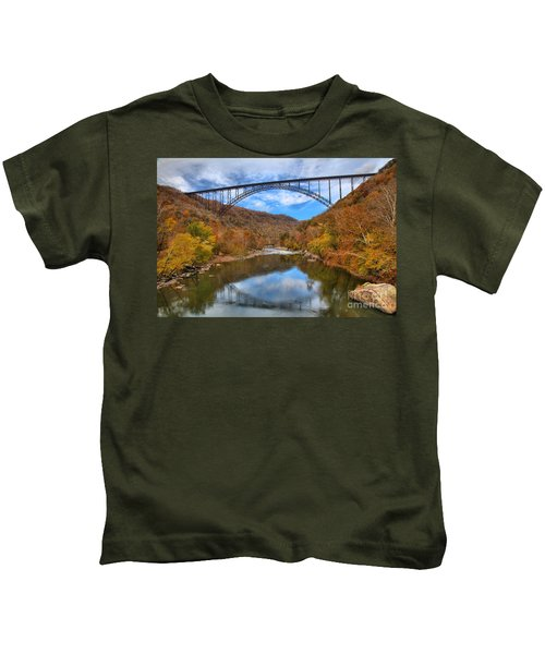 New River Gorge Reflections Kids T-Shirt