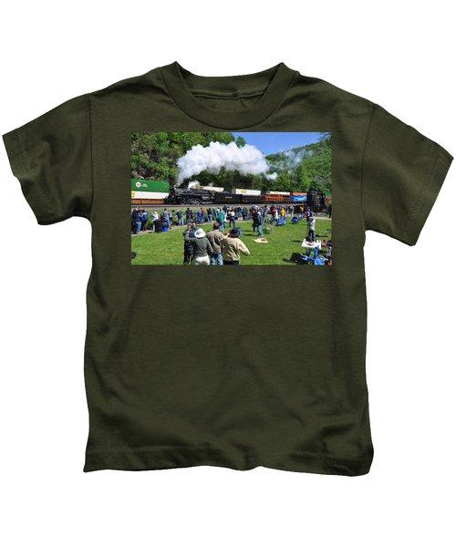 Nickel Plate Berkshire At Horseshoe Curve Kids T-Shirt