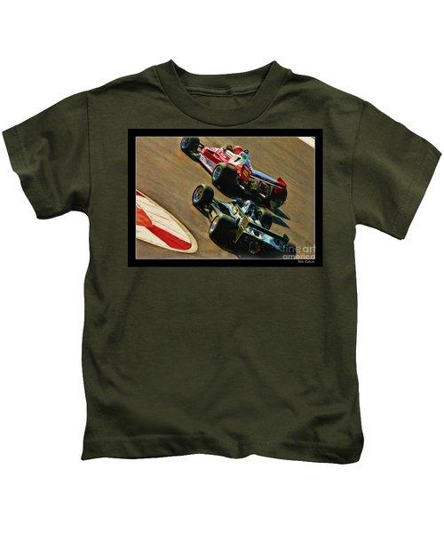 Niki Lauda Leads Mario Andretti Kids T-Shirt