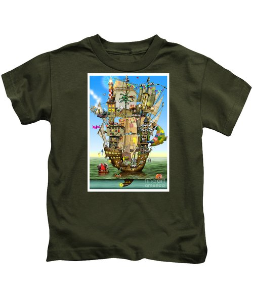 Norah's Ark Kids T-Shirt by Colin Thompson
