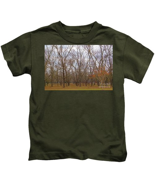 North Florida Orchard In Fall Kids T-Shirt