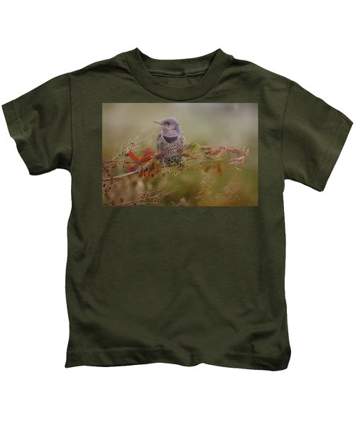 Northern Flicker In Fall Colors Kids T-Shirt