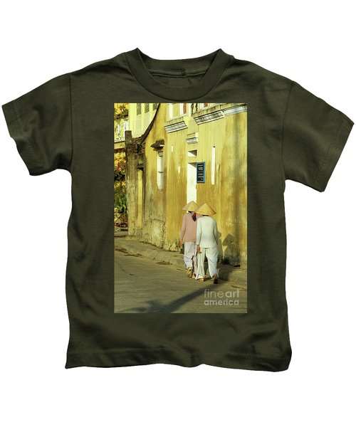 Ochre Wall 02 Kids T-Shirt