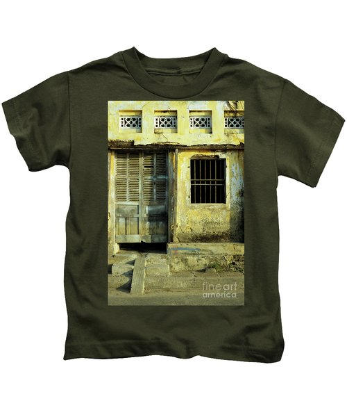 Ochre Wall 03 Kids T-Shirt
