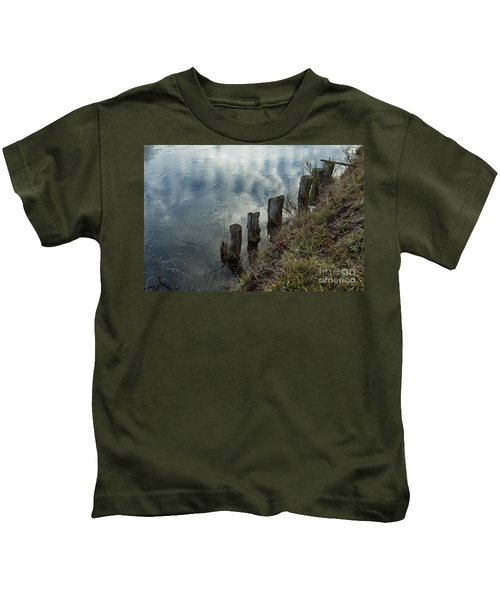 Old Dock Supports Along The Canal Bank - No 1 Kids T-Shirt