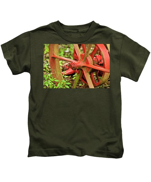Old Farm Tractor Wheel Kids T-Shirt