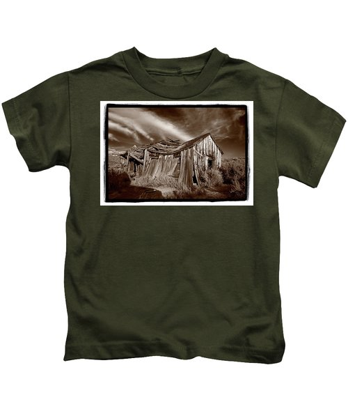 Old Shack Bodie Ghost Town Kids T-Shirt