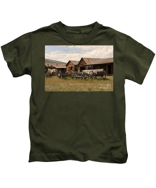 Old West Wyoming  Kids T-Shirt